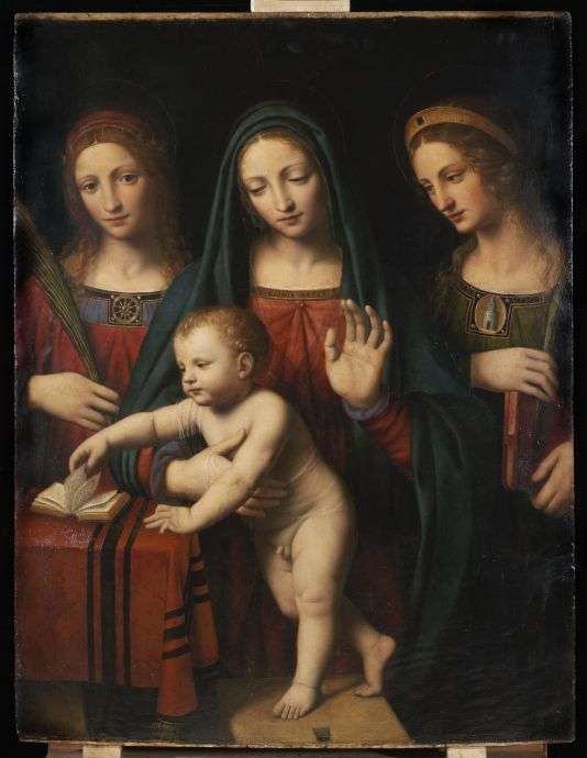 Bernardino Luini: Madonna and Child with Saint Catherine and Saint Barbara