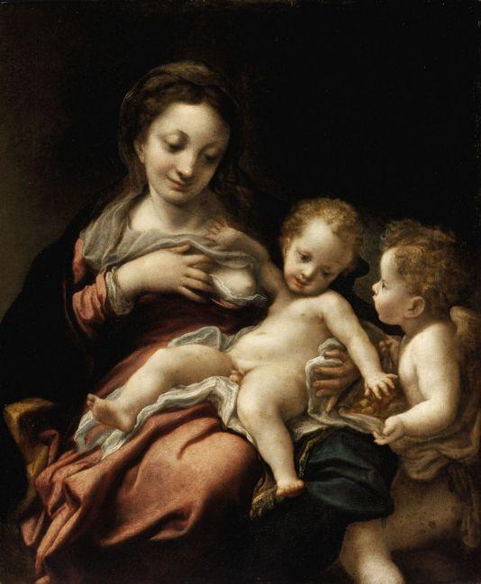 Correggio: Virgin Suckling the Child