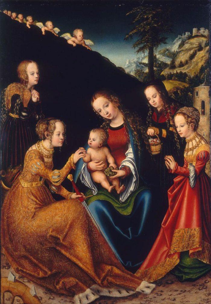 Lucas Cranach the Elder: The Mystic Marriage of Saint Catherine of Alexandria