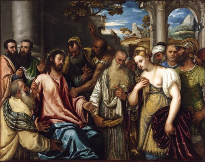 Polidoro da Lanciano: Christ and the Adulteress