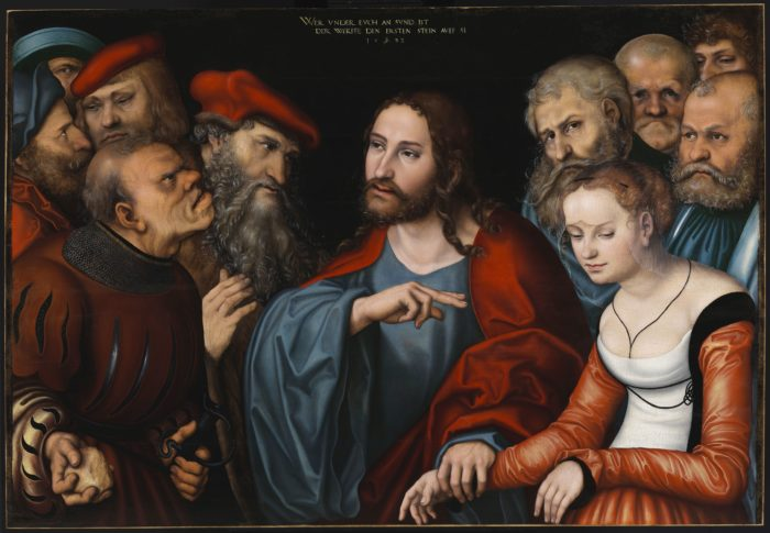 Lucas Cranach the Elder: Christ and Woman Taken in Adultery