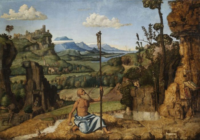 Giovanni Battista Cima da Conegliano: The Penitent Saint Jerome in the Wilderness