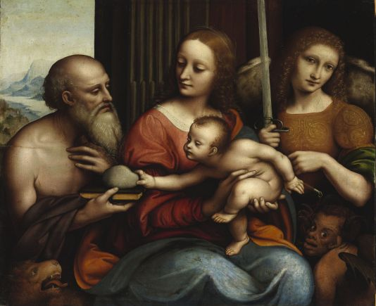 Giampietrino: Madonna and Child with Saint Jerome and Saint Michael