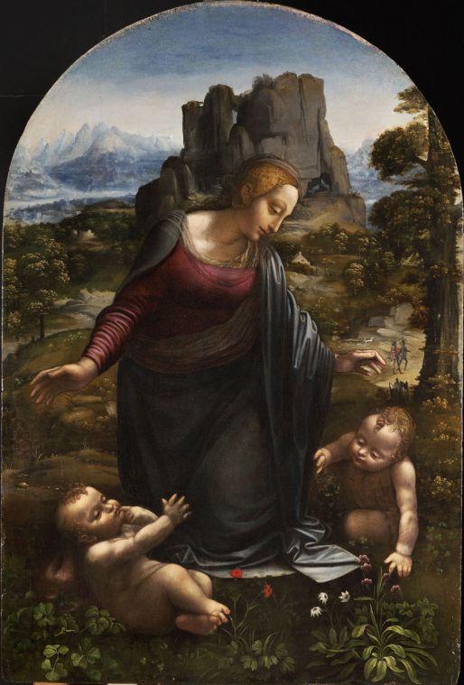 Workshop of Leonardo da Vinci: Virgin and Child with St John the Baptist