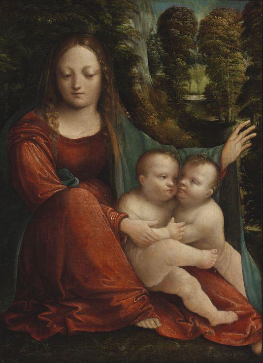 Martino Piazza da Lodi: Madonna and Child with infant Saint John