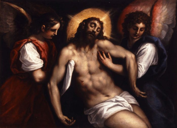 Jacopo Palma il Giovane: The Dead Christ with Two Angels