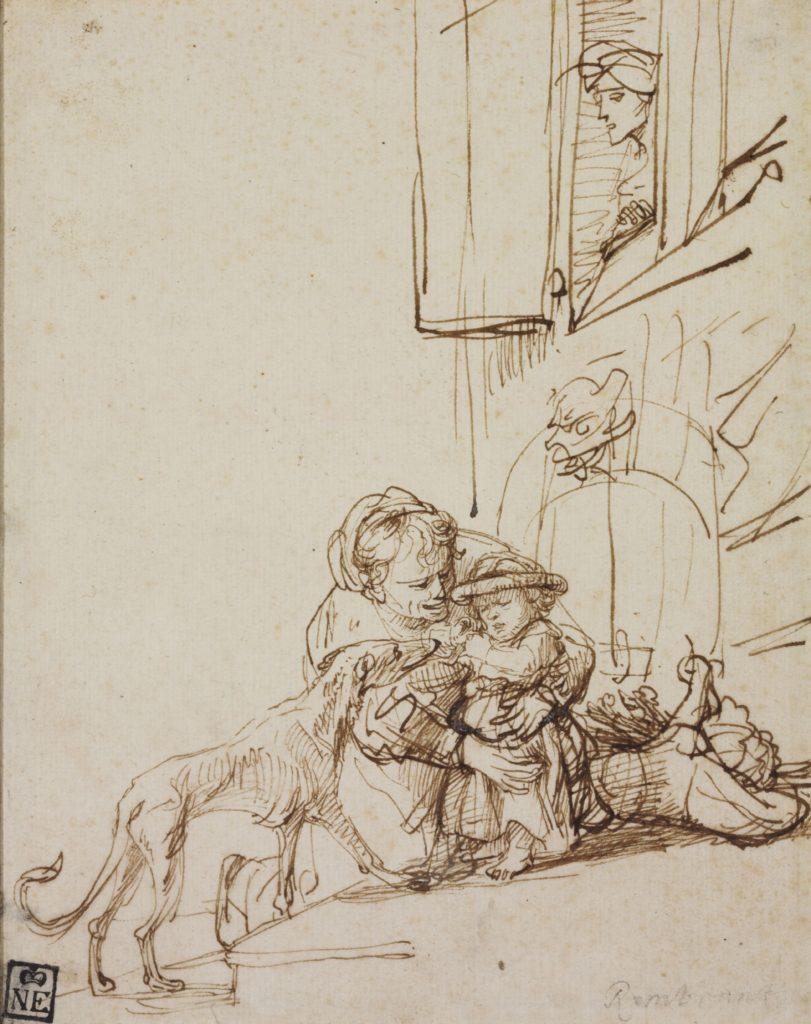 Rembrandt Harmensz van Rijn182 x 145 mm, pen, brown ink