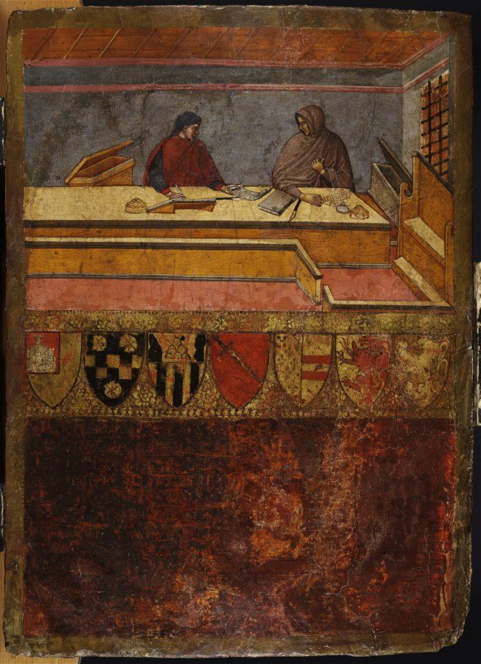 Guido di Domenico di Tantuccio: Account book cover for the Biccherna office of the city of Siena