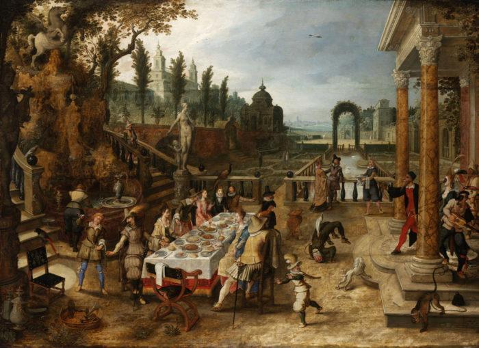 Sebastian Vrancx: Elegant Company Dining Outdoors