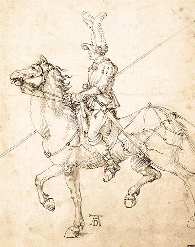 Albrecht Dürer: Rider with Lance, 1502