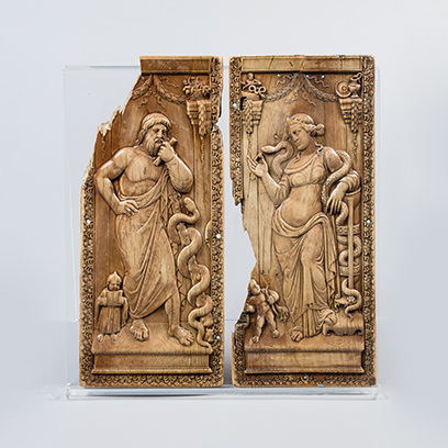 Two ivory diptychs