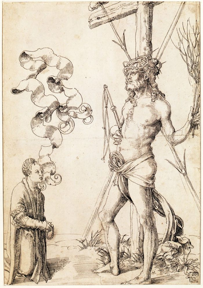 Hans Baldung Grien: Christ with the Instruments of the Passion, c. 1504