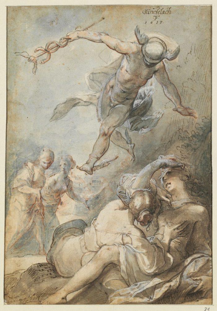 Matthias Gundelach: Mercury and Herse, 1613