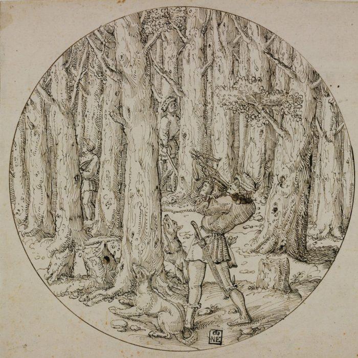 Augustin Hirsvogel: Squirrel Hunt with Crossbows, c. 1530-1536