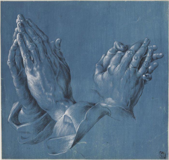 Hans Hoffmann after Albrecht Dürer: Studies of Hands, c. 1580