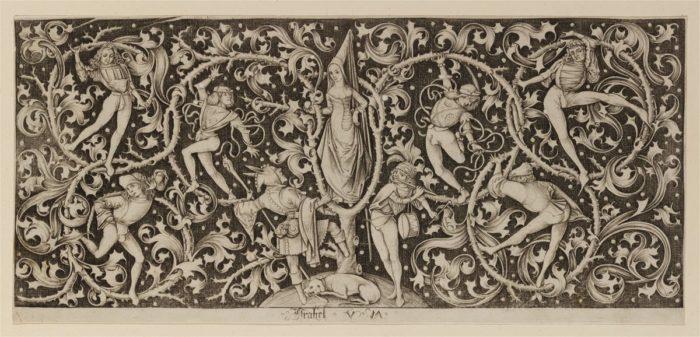 Israhel van Meckenem: Ornamental Decoration with Dancers, ca. 1490/1500